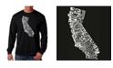 LA Pop Art Men's Word Art Long Sleeve T-Shirt - California State
