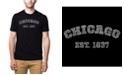 LA Pop Art Men's Premium Word Art T-Shirt - Chicago 1837