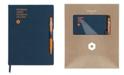 CARAN d'ACHE A5 Blue Notebook with Orange 849 Ballpoint Pen