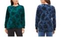 Karen Scott Petite Floral-Print Sweatshirt, Created For Macy's