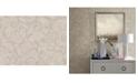 "Warner Textures 27"" x 324"" Sansa Khaki Plaster Scroll Wallpaper"