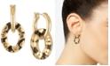 RACHEL Rachel Roy Gold-Tone Animal Print Link Drop Earrings