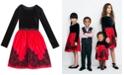 Rare Editions Big Girls Plus Size Flocked Velvet Dress