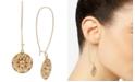 Robert Lee Morris Soho Gold-Tone Shield Linear Drop Earrings