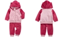 First Impressions Baby Girls 2-Pc. Leopard-Print Minky Hoodie & Pants Set, Created For Macy's