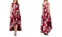 Tahari ASL Mikado High-Low Dress