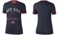 Nike Women's Boston Red Sox Slub Crew Ringer T-Shirt