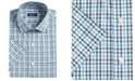 Club Room Men's Classic/Regular-Fit Stretch Wrinkle-Resistant Gingham Dress Shirt, Created For Macy's