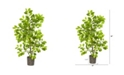 Nearly Natural 3' Ficus Artificial Tree in Planter