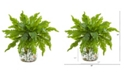 "Nearly Natural 13"" Fern Artificial Plant in Floral Vase"