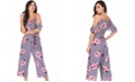 AX Paris Women's Floral Culotte Jumpsuit