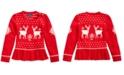 Polo Ralph Lauren Little Girls Intarsia-Knit Peplum Sweater