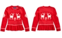 Polo Ralph Lauren Toddler Girls Intarsia-Knit Peplum Sweater