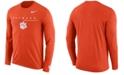 Nike Men's Clemson Tigers Velocity Travel Long Sleeve T-Shirt