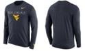 Nike Men's West Virginia Mountaineers Velocity Travel Long Sleeve T-Shirt