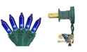 """Northlight Set of 100 Blue Mini Christmas Lights 2.5"""" Spacing - Green Wire"""