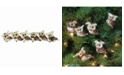 """Northlight Pack of 6 Holiday Moments Brown and Tan Owl Christmas Ornaments 2.75"""""""