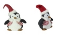 """Northlight 14"""" Small Plush Penguin in Red Nordic Snowflake Vest Christmas Figure"""
