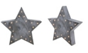 Northlight 11.75 Large Lighted Gray Star Christmas Table Top Decoration