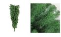 """Northlight 48"""" Deluxe Windsor Pine Artificial Christmas Teardrop Swag - Unlit"""
