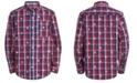Tommy Hilfiger Big Boys Dixon Yarn-Dyed Plaid Logo-Print Shirt