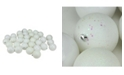 "Northlight 60ct Winter White Shatterproof 4-Finish Christmas Ball Ornaments 2.5"" 60mm"