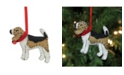 "Northlight 4"" Cream Black and Brown Dog Plush Christmas Ornament"