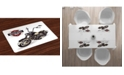 Ambesonne Motorcycle Place Mats, Set of 4