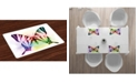 Ambesonne Swallowtail Butterfly Place Mats, Set of 4