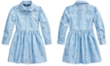 Polo Ralph Lauren Little Girl's Pony Cotton Shirtdress