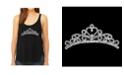 LA Pop Art Women's Premium Word Art Flowy Tank Top- Princess Tiara
