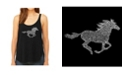 LA Pop Art Women's Premium Word Art Flowy Tank Top- Horse Breeds