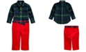 Polo Ralph Lauren Baby Boys Plaid Shirt & Belted Pants Set