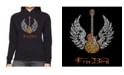 LA Pop Art Women's Word Art Hooded Sweatshirt -Lyrics To Freebird