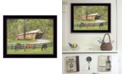 """Trendy Decor 4U Old Covered Bridge By Ed Wargo, Printed Wall Art, Ready to hang, Black Frame, 18"""" x 14"""""""