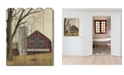 """Trendy Decor 4U Mail Pouch Barn by Billy Jacobs, Printed Wall Art on a Wood Picket Fence, 16"""" x 20"""""""