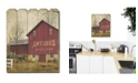 """Trendy Decor 4U Antique Barn by Billy Jacobs, Printed Wall Art on a Wood Picket Fence, 16"""" x 20"""""""