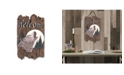 """Trendy Decor 4U Welcome Sign, Wolf Porch Decor, Resin Slate Plaque, Ready to hang Decor, 13"""" x 7.75"""""""