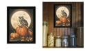 """Trendy Decor 4U In the Pumpkin Patch By John Rossini, Printed Wall Art, Ready to hang, Black Frame, 14"""" x 18"""""""