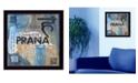 "Trendy Decor 4U Yoga Series - Prana By Debbie DeWitt, Printed Wall Art, Ready to hang, Black Frame, 14"" x 14"""