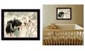 "Trendy Decor 4U The Winter Robin by Bonnie Mohr, Ready to hang Framed Print, Black Frame, 18"" x 14"""