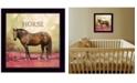 "Trendy Decor 4U Trendy Decor 4U Henry the Horse by Bonnie Mohr, Ready to hang Framed Print, Black Frame, 14"" x 14"""