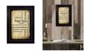 "Trendy Decor 4U Papa Says By Susan Ball, Printed Wall Art, Ready to hang, Black Frame, 14"" x 10"""