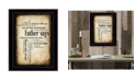 """Trendy Decor 4U Father Says By Susan Boyle, Printed Wall Art, Ready to hang, Black Frame, 14"""" x 20"""""""
