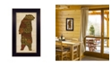 """Trendy Decor 4U Cabin rules By Lauren Rader, Printed Wall Art, Ready to hang, Black Frame, 11"""" x 20"""""""