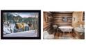 "Trendy Decor 4U Trendy Decor 4U Morning View Deer by Kim Norlien, Ready to hang Framed Print, Black Frame, 20"" x 14"""