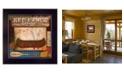"Trendy Decor 4U Red Canoe Lodge By Mollie B., Printed Wall Art, Ready to hang, Black Frame, 14"" x 14"""