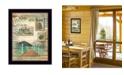 "Trendy Decor 4U Go to the Lake By Marla Rae, Printed Wall Art, Ready to hang, Black Frame, 14"" x 18"""