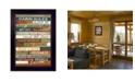"Trendy Decor 4U Cabin Rules By Marla Rae, Printed Wall Art, Ready to hang, Black Frame, 14"" x 10"""