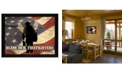 """Trendy Decor 4U Bless our Firefighters By Marla Rae, Printed Wall Art, Ready to hang, Black Frame, 18"""" x 14"""""""